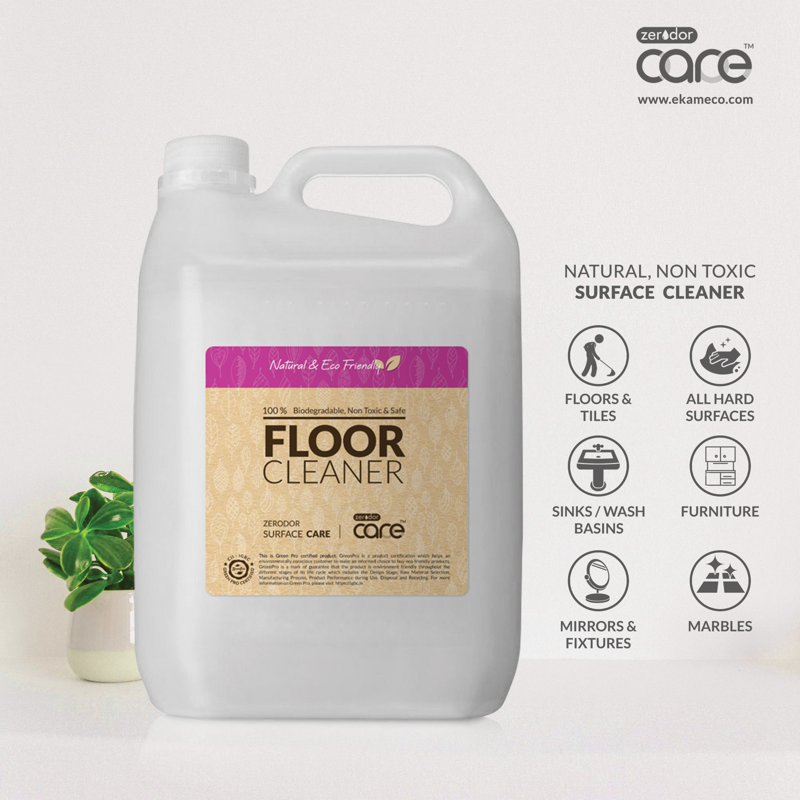 5L CARE Floor Cleaner | 'Reduce and Reuse' Can